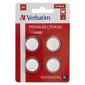 1x4 Verbatim CR 2032 Lithium battery 49533