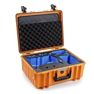 B&W Copter Case Type 6000 O orange DJI FPV Combo Inlay