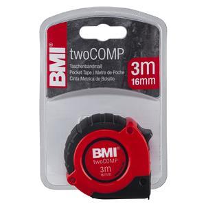 BMI twoCOMP PT14 3m red/black Pocket Measuring Tape