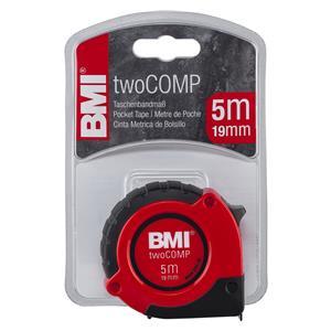 BMI twoCOMP PT14 5m red/black Pocket Measuring Tape