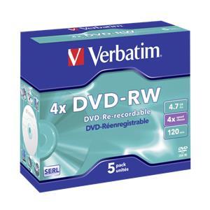1x5 Verbatim DVD-RW 4,7G