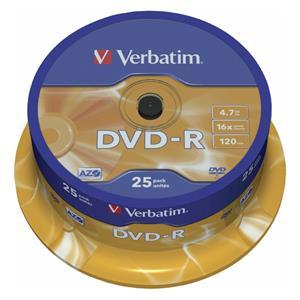 1x25 Verbatim DVD-R 4,7G