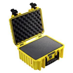 B&W Outdoor Case Type 3000 yellow with pre-cut foam insert