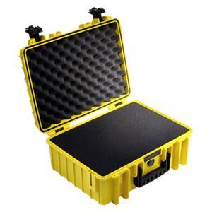 B&W Outdoor Case Type 5000 yellow with pre-cut foam insert