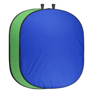walimex pro Foldable Background green/blue 150x210cm
