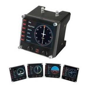 Logitech G Saitek Pro Flight Instrument Panel upravljačka jedinica za više instrumenata s LCD zaslonom
