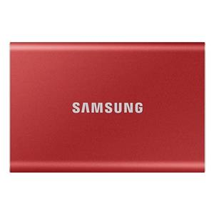 Samsung Portable SSD T7 USB 3.2 Gen2 Typ-C 2TB metallic red